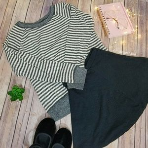 Victoria's Secret striped terry sweatshirt